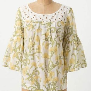 Anthropologie | HD in Paris Early Daffodils Blouse